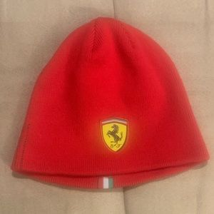 Authentic Red Ferrari Hat - One Size - Never Worn